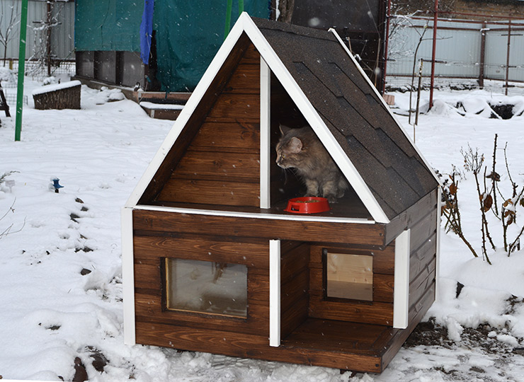 Тёплый домик своими руками